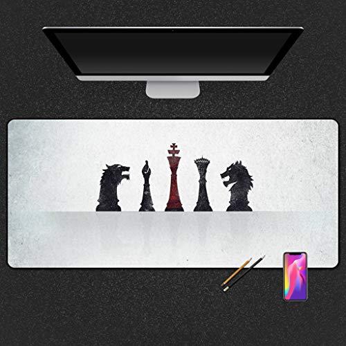 SJJOZZ Mausunterlage Übergroße Mausunterlage Dicke, verschleißfeste Spielmausunterlage Büro-Computer-Schreibtischunterlage Gummibekleidung (Color : B, Size : 5mm)
