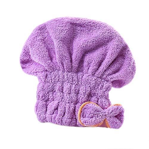 Beanie - damen haarkappe aus mikrofaser für turban - trockenes langes haar - lila - originelle geschenkidee - hervorragende qualität