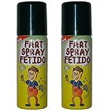 2 Dosen Furzspray (100ml) Ekliger Gestank aus der Spraydose Scherzartikel Pupsspray Spray