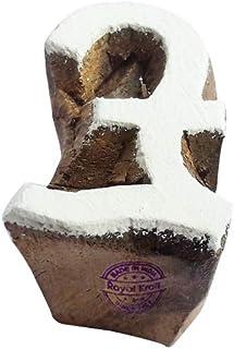 ختم كتلة الطباعة الخشبية رمز Royal Kraft Pound - صناعة يدوية من نسيج الحناء ورق الطين الفخاري طباعة كتلة TQtag001