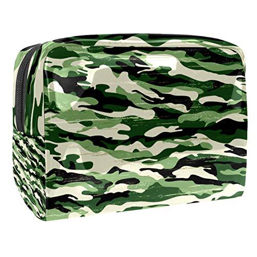 Portátil Bolsa Cosmetica Camuflaje Verde Militar Bolsa de Neceser Bolso de Organizador Maquillaje en Viaje Almacenamiento de Maquillaje Cosmético Neceseres de Viaje 18.5x7.5x13cm