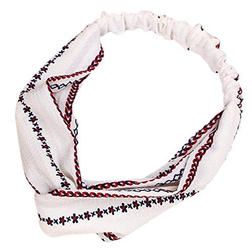 CAOLATOR Fille élastique Bowknot Bandeau Cheveux Bande Coiffe Bandeau Head Wrap Chapeaux Maquiller Blanc