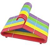 FiNeWaY® 40 perchas de plástico para ropa y abrigos de bebé, para niños, multicolor