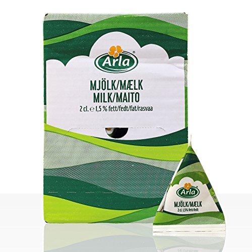Arla Milch-Portion 1,5% Fett, im Displaykarton, Sie erhalten 1 Packung, Packungsinhalt: 100 Einzelportionen