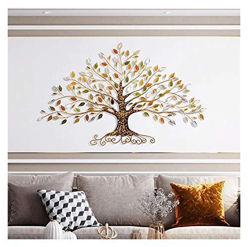 Árbol de la vida - Escultura de la pared de árbol de metal, Decoración del hogar del árbol de oro 3D, creative Contemporary Artwork Ornament Durable Smooth Decorative Decoration Decoration, para la pa