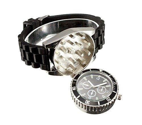 4483 Reloj de pulsera GRINDER con correa de silicona con triturador de tabaco
