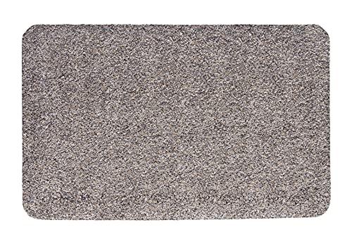 andiamo Fußmatte Samson Türmatte Sauberlaufmatte für Innen- und überdachter Außenbereich waschbar mit rutschfester Unterseite 40 x 60 cm granit