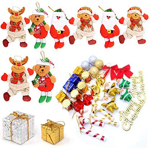 albero di natale jingle bells Fiyuer Ciondolo Bambola di Natale 36 PCS ciondoli Natale Palline Albero pigne Natalizie Jingle Bell Campanelle per Ornamenti Decorazioni Natalizie Addobbi
