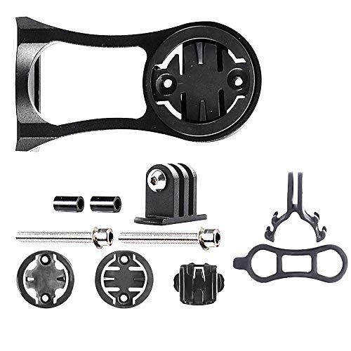 Supporto per Bici da Bici in Lega di alluminio,Supporto per Bicicletta Modello di Regolazione per Attacco Manubrio per Bici da Bici Garmin Edge/Bryton Rider/CatEye