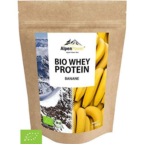 ALPENPOWER | BIO WHEY Protein Banane | Ohne Zusatzstoffe | 100% natürliche Zutaten | Bio-Milch aus Bayern und Österreich | Superfood Banane | Hochwertiges Eiweißpulver | 500 g