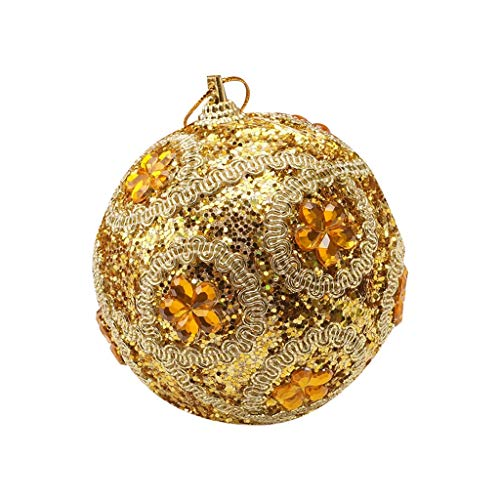 officpb Christmas Rhinestone Glitter Baubles Ball 8CM Xmas Tree Sequins Ball Ornament,for Home Decoration