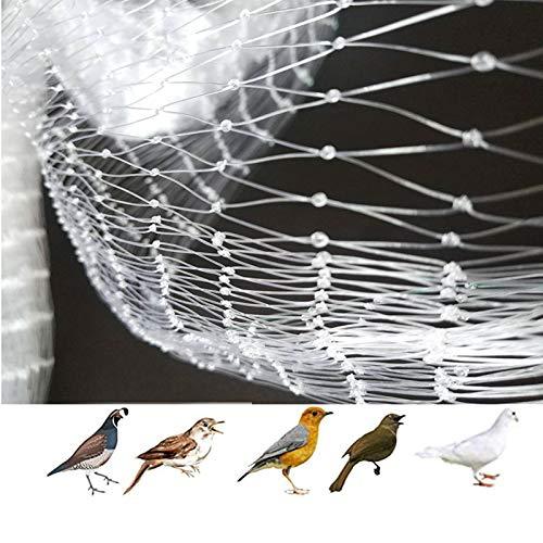 APOE Rete per Uccelli in Nylon da Giardino, Rete Anti Piccioni da Balcone, Rete Protettive Resistente per Laghetti, Piante e Frutti, Bianca 3m × 5m