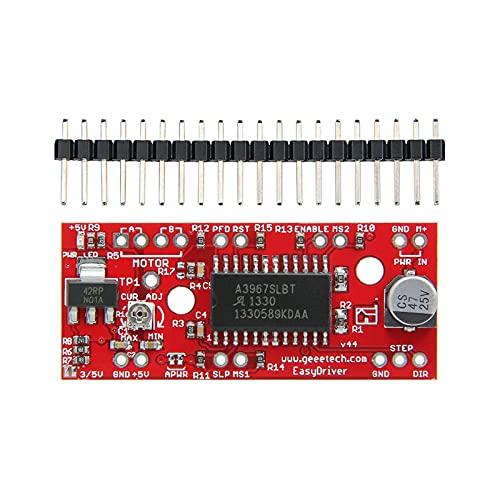 Huhu 10pcs / Lot 3D Stampante Stepper Motor EasyDriver Shield Driver Board Adatta for Bordo di Sviluppo Arduino