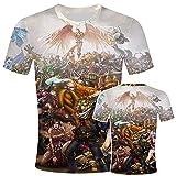 League of Legends Camiseta Unisex Impresa En 3D De Manga Corta Casual para Hombres Y Mujeres Street Tops-Tx-5724_M
