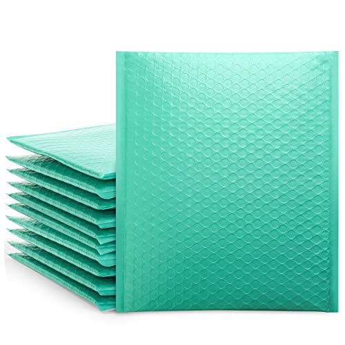 Teal 8.5x12 Poly Bubble Mailers, Self-Seal Shipping Bags, Packaging Bags, Bubble Padded Mailing Shipping Envelopes, Package Mailing Bags, Shipping Supplies, Packaging for Small Business, 25-Pack