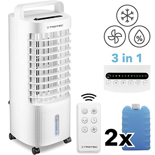 TROTEC Aircooler PAE 11 luchtkoeler 3-in-1 mobiele airconditioning luchtbevochtiger ventilator 3 l waterreservoir verdampingskoeling luchtfilter