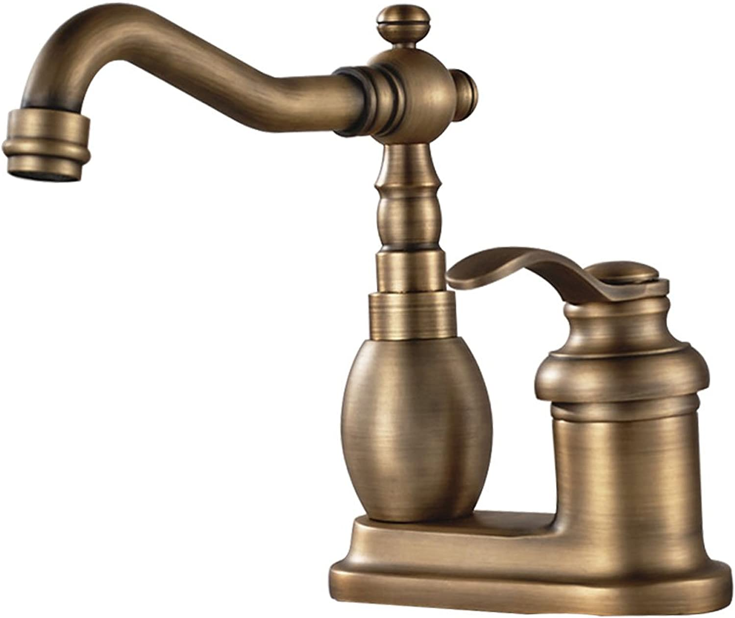 Lingyun Faucet- Brass Faucet,Retro Styling,single Handle Faucet,Wire Drawing Technology,Ceramic Valve Core,Hot And Cold Water Dual Control,Bathroom Kitchen Faucet