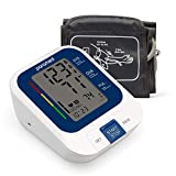 PARAMED Blood Pressure Monitor: Automatic Upper Arm BP Monitor with Cuff 8.7'-15.7' - Digital BP Machine & Irregular Heartbeat Detection, 120 Readings Memory - Large LCD - Batteries & Pouch Included