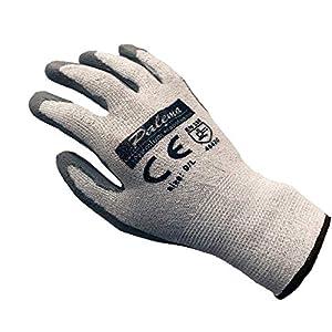 Palema ® Guantes resistentes a los cortes con revestimiento de látex – Protección contra cortes en el jardín, hobby, trabajo – Nivel 5 protección.