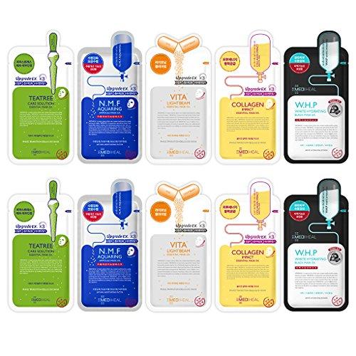 MEDIHEAL Am besten Sie 5 Typ Combo Maske Blatt 10er Pack - Teebaum, N.M.F Aquaring, Vita Lightbeam Kollagen Auswirkungen