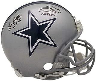 Emmitt Smith & Tony Dorsett Signed Dallas Cowboys Proline Helmet HOF 21887 - JSA Certified - Autographed NFL Helmets