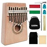 Cascha Kalimba, caoba, pulgar clavier, dedo piano con 10 lengüetas, accesorios, bolsa de plástico, bolsa, paño de limpieza, martillo afinador, pegatina para partituras
