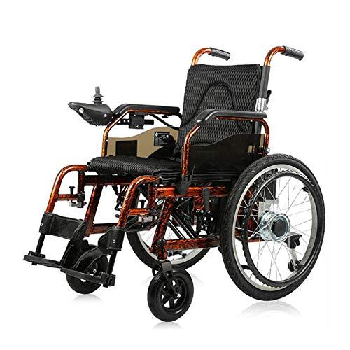 ZXMDP Elektrische rolstoel, licht frame, inklapbaar, geschikt voor rolstoel, transit reizen, chairfor, geschikt voor ouderen, 20 Ah lithium accu