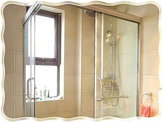 Espejo De Baño Espejo De Pared Europeo, Rectangular con Espejo Ondulado Sin Marco, Adecuado para Entrada, Sala De Estar, Suspensión Vertical U Horizontal