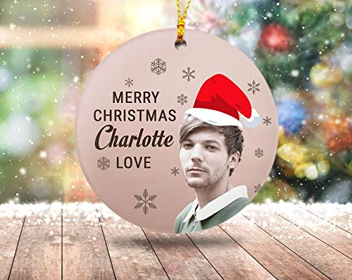 Lplpol Personalize Christmas Ornament Louis Tomlinson Christmas Oraments Louis Tomlinson Oraments Personalize Name Oraments Gift Oraments