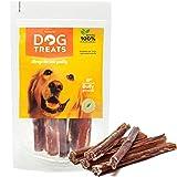 Ochsenziemer 15 cm für Hunde, 100% Natürlich Getrocknet Rinderkopfhaut Kauartikel, 5 Stück