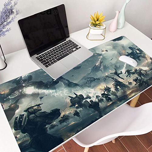 Mouse Pads Extra Long Large XL Halo Gaming Desk Mat Smooth Surface Non-Slip Rubber Mouse Pad Mat with Designs for Office and Gamers-39.419.70.1in