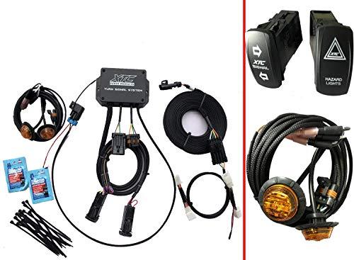 XTC Plug & Play Sistema de señal de giro para Mahindra Roxor UTV TSS-ROX-M6 2019 2020 Negro Plug
