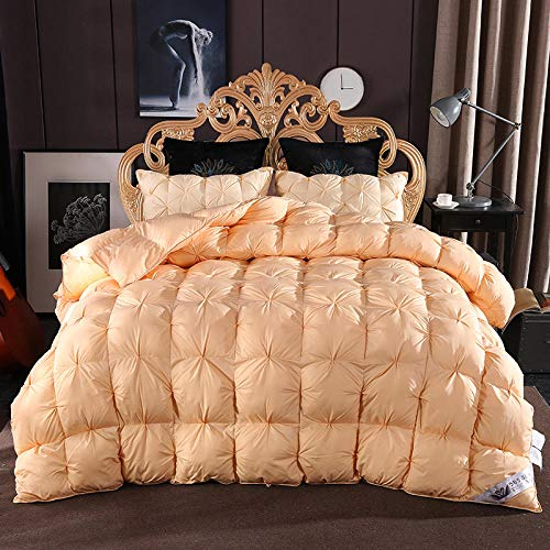 CHOU DAN Duvet Double Bed 13.5 Tog,Twisted Flower Down Quilt 95% White Goose Down Thickened Winter Quilt French Bread Twisted Flower