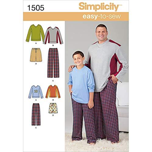 SIMPLICITY MEN BOY SLEEPWEAR-S - L / 1XL - 5XL (並行輸入品)