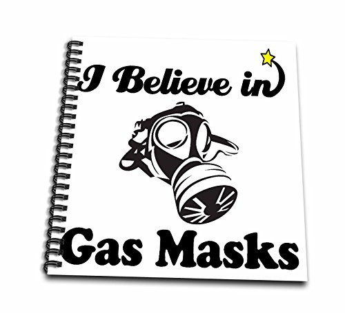 3dRose DB 105173 _ 2 I Believe In Gas Masks-Memory Book, 12 von 12 Zoll