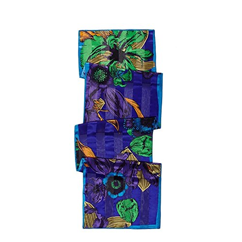 LLZHWSJ Foulard Soie/Long/Femelle/Silk/Long/Serviette Stamp/Écharpe/Motif/Silk/Serviette Longue,Un Pourpre