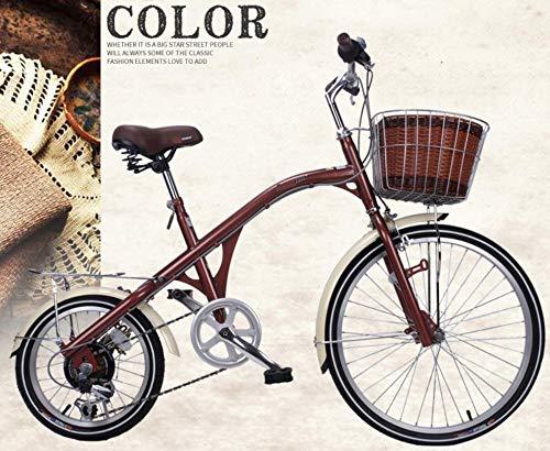 Preisvergleich Produktbild ZHUANQIAN Retro Big Wheel Small Wheel Fahrrad Bequemer Sitz Freizeit City Rennrad Sport Variable Geschwindigkeit einstellbar 24 Zoll 6-Gang Braun