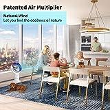 Acoolir Leise Turmventilator mit Air Multiplier Technologie inkl Fernbedienung, Energieeffizienter Ventilator mit Sleep-Timer Funktion, 90° Oszillation, 10 Geschwindigkeiten, 64cm (2A) - 2