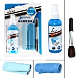Top Quality 4 in 1 Cleaning Kit (100 ml)supplied with 2 High quality clothes to clean your LCD LED properly. Unique solution easily removes dirt, dust, and stubborn fingerprints Included soft, reusable microfiber cloths and keyboard brush wipes clean...