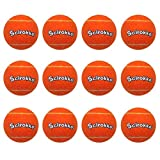 SCIROKKO 12 Pack Dog Squeaky Tennis Balls for Pet Playing Fetching, Orange Attractive Toys - 2.5 inches