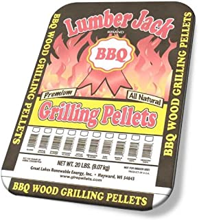 Lumber Jack 20-Pound Bag, 100-Percent Apple Wood BBQ Grilling Pellets