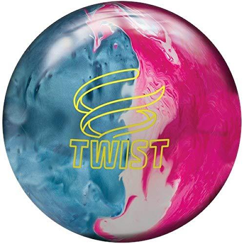 Brunswick Twist - Reaktiv Bowling Ball für Einsteiger und Profis Gewichten (Blau/Pink/Weiß, 8 LBS)