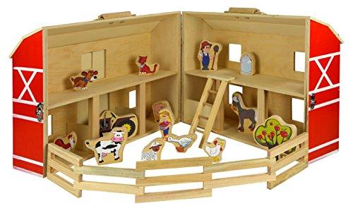 Marionette Wooden Toys - 56471 - Jeu De Ferme - WD - 17 Pièces