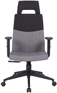 ZKORN Silla de Oficina, Silla de Escritorio de Oficina Silla ergonómica Ajustable con Respaldo Alto Sillas Grises para Oficina en casa