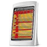 LYzpf Rápido Calentador de Ventilador Ruido Bajo Mini Pequeña Portátil Calefactor Eléctrico Bajo Consumo de Energía para Habitación Oficina Baño