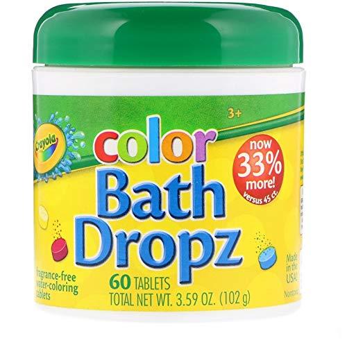 Crayola Color Bath Dropz, Fragrance Free 60 ea(Pack of 2) by Crayola