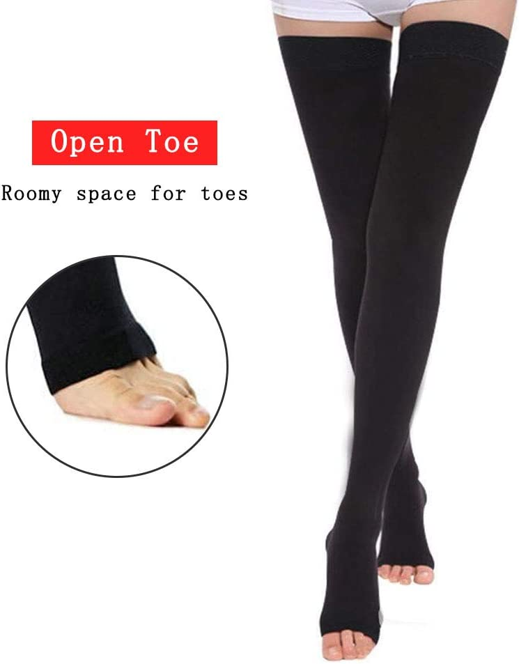 Flight Pregnancy Graduated Support 20-30 mmHg Firm Hose for Women /& Men Treatment Swelling AIYOGA Medical Open Toe Thigh High Compression Stockings Relief Varicose Leg Veins