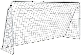 F2C Football Post Soccer Goal Target Net 12' x 6'/ 6' x 4' Football Shooting Training Aid Ultimate Backyard Outdoor Kids Official Soccer Goal, Steel Frame