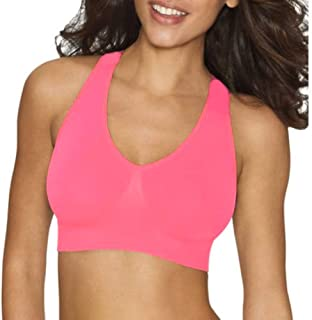 Hanes Women's Ultimate Perfect Coverage Foam Wire-Free Bra (XX-Large, Neon Pink)