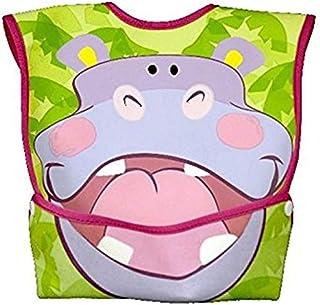 Dexbaby Big Mouth Hippo Leak-Proof Dura Bib w/Catch-All Pocket - Large   6 Months +